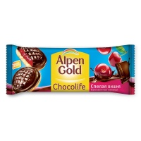 Печенье Alpen Gold Chocolife вишня, 136г