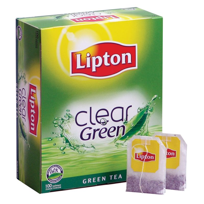 Зеленый чай липтон