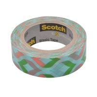 Клейкая лента декор. 3M Scotch Washi C314-P16, 15 мм х 10 м, мята