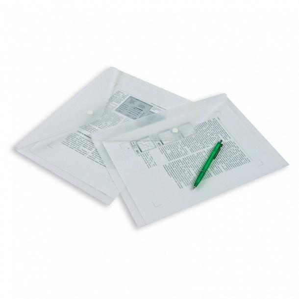 Папка-конверт с кнопкой полупрозрачный A4