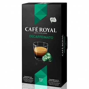 Капсулы для кофемашин Cafe Royal Decaffeinato 10*5г